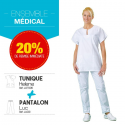 Ensemble tunique pantalon médical : Helene Luc