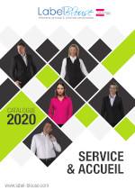 Catalogue de vêtement de travail pour les métiers de l'accueil et de service