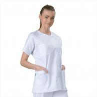 Tunique médicale Blanche Col rond