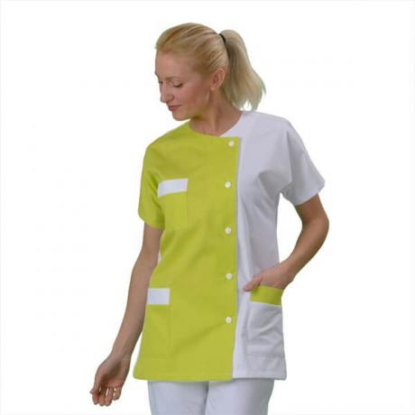 Blouse pharmacie Femme médicale couleur Blanc