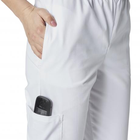 Label Blouse Pantalon de Cuisine 4 Poches avec Tailles /élastiqu/ée sur cot/é Serg/é 210 gramme Couleurs Blanc Noir Taille /élastiqu/ée Lavage Machine 90 degr/és ou Industriel T54