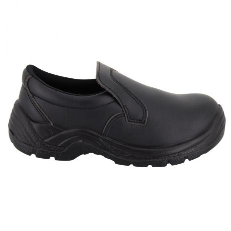 Chaussure De Cuisine Noire Forme Mocassin De Securite Label