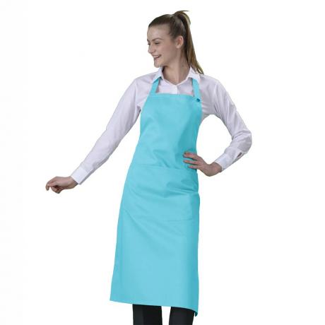 Tablier Cuisine Bavette Turquoise Label Blouse Net