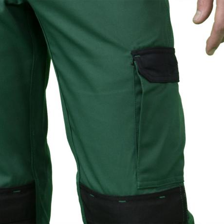 strongAnt Bouton en m/étal YKK Fermeture /à glissi/ère YKK Made in EU Poches pour genouill/ères Pantalon de Travail Berlin Pro Canvas 260 GR Noir Gris