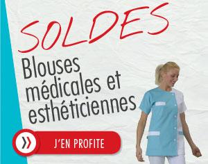 Blouses médicales et esthéticiennes en soldes