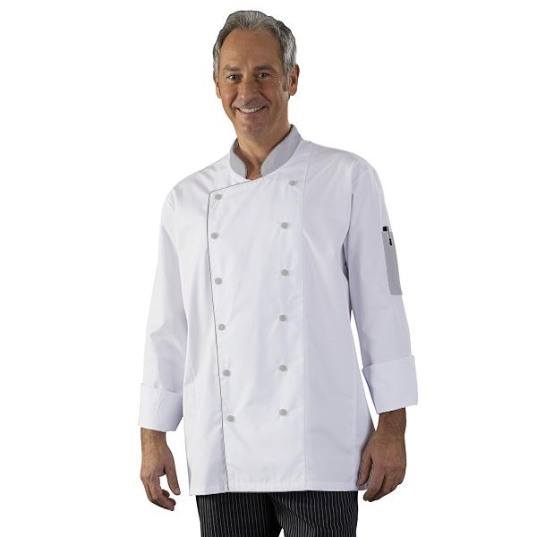 Veste de cuisine double pressions personnaliser label for Personnaliser sa veste de cuisine