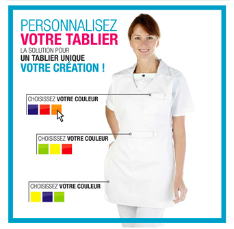 Tablier chasuble personnalisable